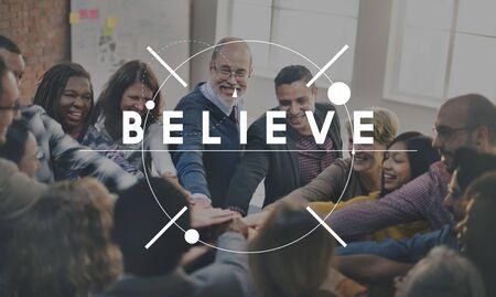 believe: La confianza de la esperanza de creer Concept