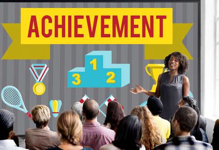 skills diversity: Achievement Accomplishment Vision Development Concept Stock Photo