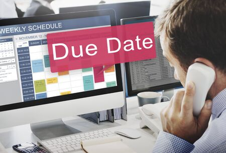 dues: Due Date Deadline Schedule Calender Reminder To Do Concept
