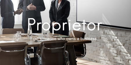 the chairman: Proprietor Business Owner Founder Chairman Management Concept