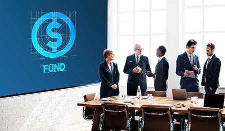 fund: Fund Finance Business Money Technology Graphic Concept