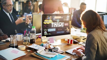 barter: Trade Commerce Business Economy Merchandise Concept Stock Photo