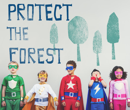 Protect the Forest Ecological Issue Concept Stock Photo
