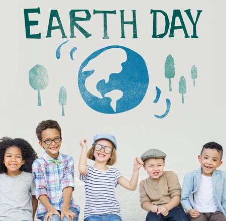 green little planet earth: Earth Day Globe Holiday Celebration Concept