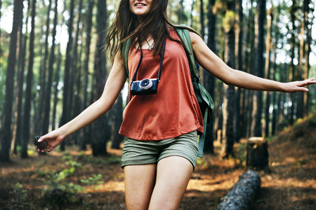 fun activity: Camp Forest Adventure Travel Remote Relax Concept