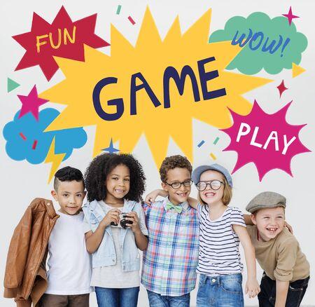 elementary age boys: Kid Child Chilren Playful Childhood Concept