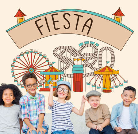 Fiesta Feiern Vergnügen Ereignis Fiesta Konzept Glücklichsein