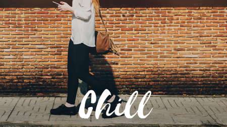 Chill Chic Calm Cool Life Concept Stock Photo