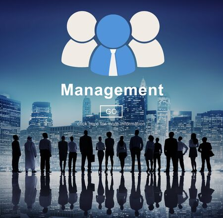 roles: business, coaching, controlling, coordination, dealing, management, manager, managing, mentor, organization, process, roles of management, strategy, supervising, word Stock Photo