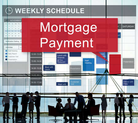 building planners: Mortgage Payment Financial Banking Investment Concept