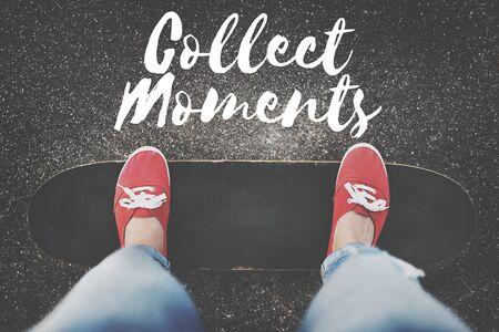 juntar: Recoger Momentos Aventura Placer Explora Concept