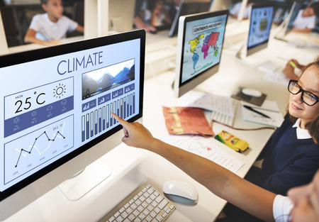 forecasting: Weather Condition News Report Climate Forecasting Meteorology Temperature Concept