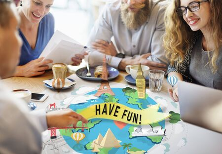 happy business team: Have Fun Happy Enjoyment Pleasure Joyful Concept