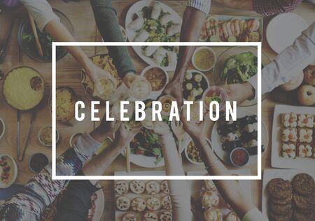 on occasion: Celebrate Celebration Event Festive Occasion Party Concept Stock Photo