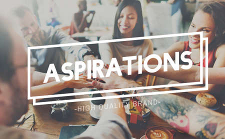 the way forward: Aspirations Goal Target Ambition the Way Forward Concept Stock Photo