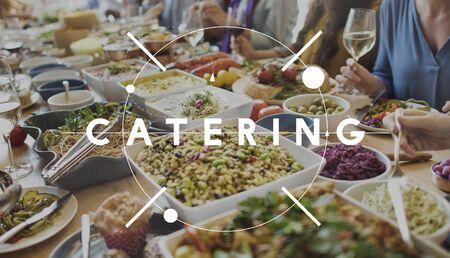 visitador medico: Buffet Cuisine Catering concepto de alimentos de comida Foto de archivo