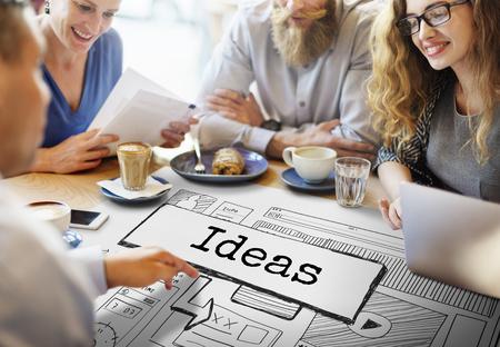 vorschlag: Ideen erstellen conceptualize Innovation Denken Konzept