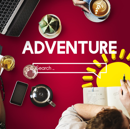 Adventure search bar concept Stock Photo