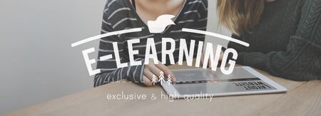 instructional: E-Learning Education Knowledge Instructional Media Technology Concept