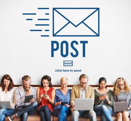 correspondencia: Post Mail Correspondence Online Message Communication Concept