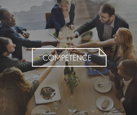 competence: Competence Business Important Education Values Concept Stock Photo