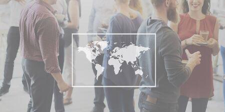 businees: Businees World Worldwide Continent Marketing Concept Stock Photo