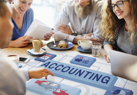 small business team: Accounting Banking Finance Income Profit Concept