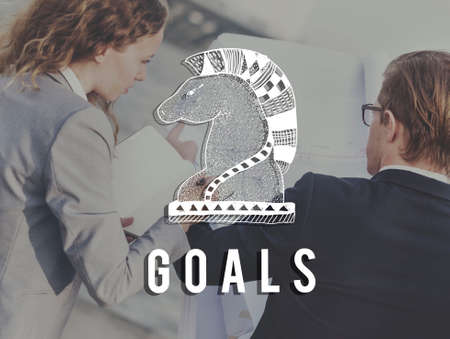 man business oriented: Goals Aim Believe Confidence Inspiration Target Concept Stock Photo