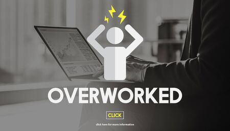 overload: Overworked Business Overload Overtime Pressure Concept Stock Photo