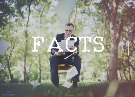 actuality: Facts Actuality Reality Observation Experiment Truth Concept Stock Photo