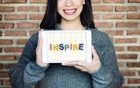 believe: Esperanzado inspirar creen aspiraci�n Visi�n Innovar Concept