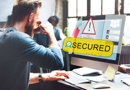 secured: Access Allowed Entrust Password Secured Concept