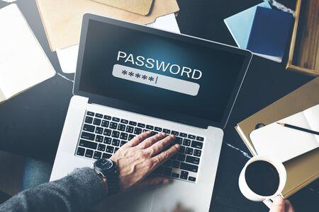 Mot de passe d'accès Internet Firewall Log-in Concept Privé
