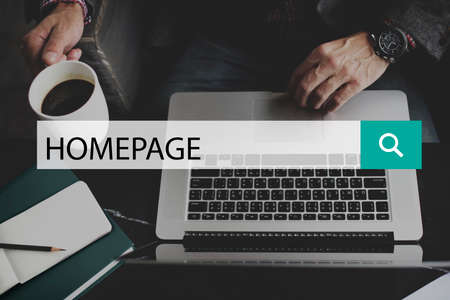 domain: Homepage Web Site Domain Concept