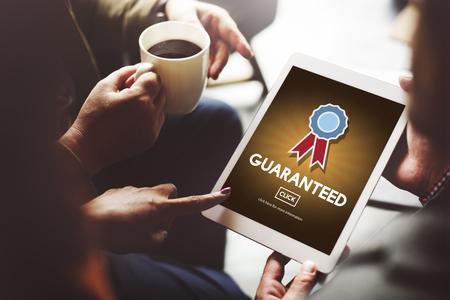 Gegarandeerd Garantie Kwaliteit Veiligheid Service Concept Stockfoto