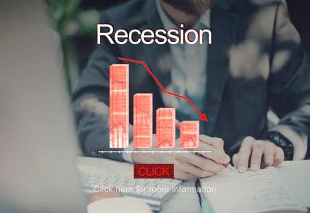 bankruptcy: Problems Risk Deflation Depression Bankruptcy Concept