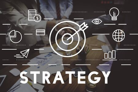 Strategy Target Mission Objective Graphics Concept Stock Photo