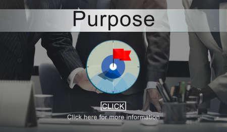 Goals Aim Purpose Mission Target Concept Stock Photo