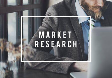 Concepto de información de consumidor de negocio de investigación de mercado Foto de archivo
