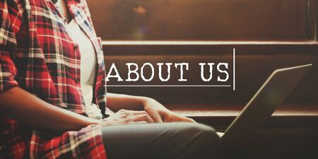about us: About Us Information Details Data Contact Concept