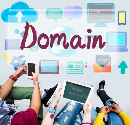 domain name: Domain Name Internet Online Network Connection Concept