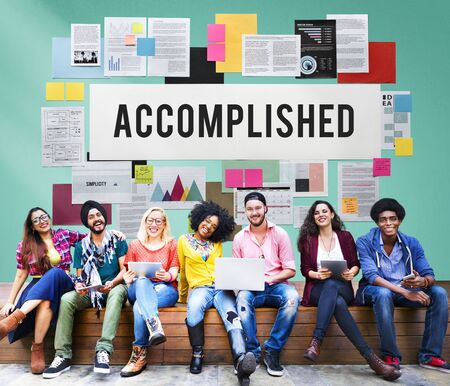 accomplished: Accomplished Achieve Development Excellence Concept