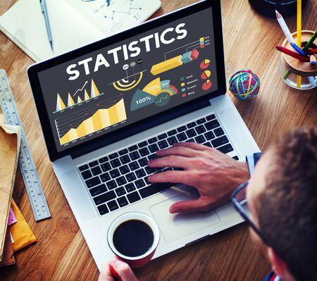 percentage: Statistics Percentage Business Chart Concept