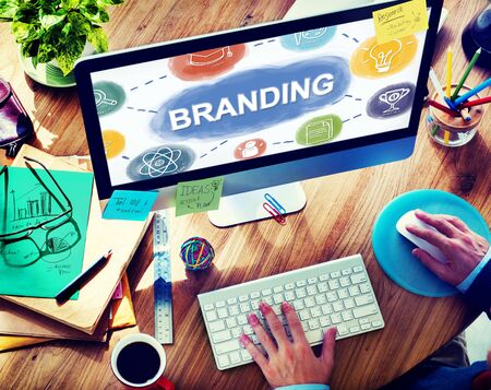 Branding Creative Brand Business Graphic Concept Stock Photo