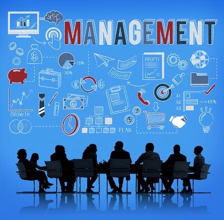 coordinacion: Concepto Coordinación estrategia de gestión de negocios Foto de archivo