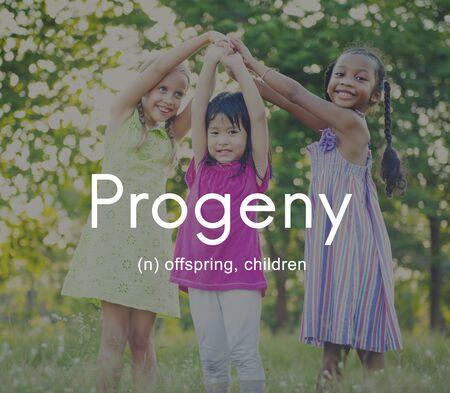 progeny: Progeny Children Generation Juvenile Young Kids Concept