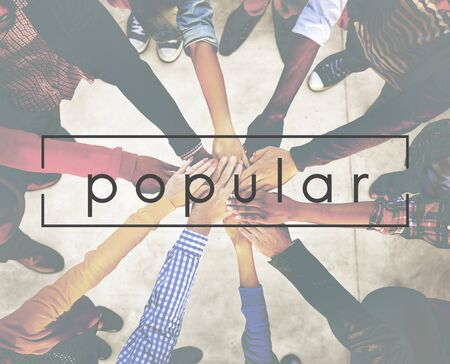 popular: Popular Teamwork Agreement Organization Concept Stock Photo