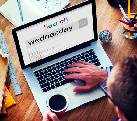 weekday: Wednesday Day Dates Date Week Weekday Agenda Concept Stock Photo