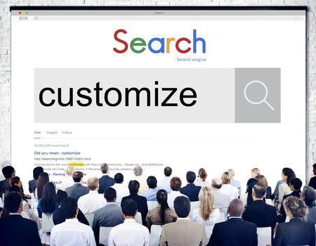 modify: Customize Modify Create Adjust Concept