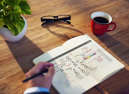 Organigramm Management Planung Konzept Standard-Bild